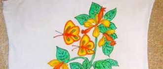 Как украсить майку росписью акриловыми красками